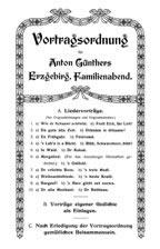 Anton Günthers Liedpostkarten Gesamtverzeichnis Aller Karten